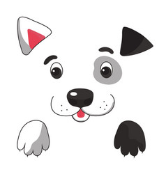 funny dog symbol of the new year 2018 vector image