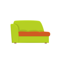 green couch living room or office interior vector image vector image