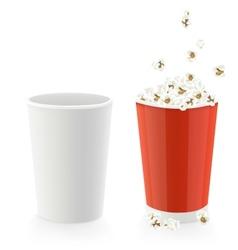 popcorn caps vector image