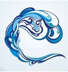 Water splash vector image