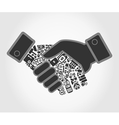 Business hand shake vector image