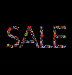 colored sale text vector image