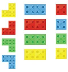 Colorful building blocks vector image
