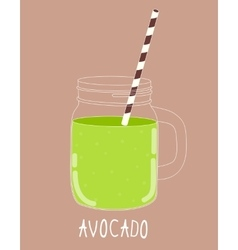 Fresh Avocado Smoothie Healthy Food vector image vector image