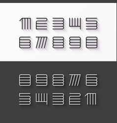 thin line style linear modern font numbers with vector image vector image