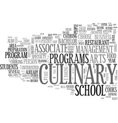Why go to a culinary school text word cloud vector