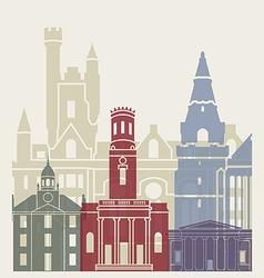 Aberdeen skyline poster vector image