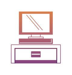 computer monitor icon vector image