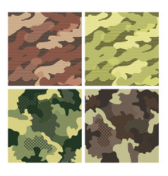military striped seamless pattern set camouflage vector image vector image