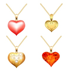 Precious Jewels Pendants vector image