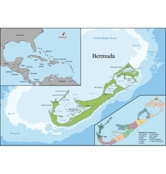 The Bermudas or Somers Isles vector image