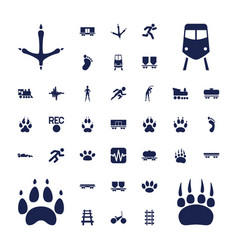 37 track icons vector