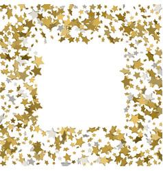 3d gold frame or border of random scatter golden vector image