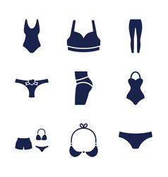 9 underwear icons vector