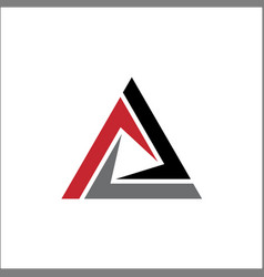 abstract triangle sign logo vector image