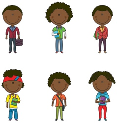 Afro-American students vector image
