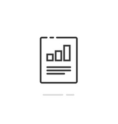 Audit research report icon symbol line vector