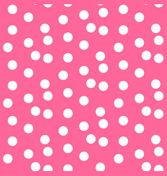 baby pink background scattered dots polka vector image