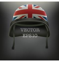 Background of British flag helmet vector image vector image