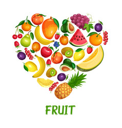 Berries and fruits design healthy food vector