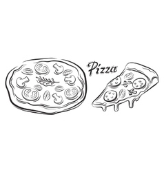Black pizza vector