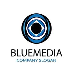 Blue Media Design vector image