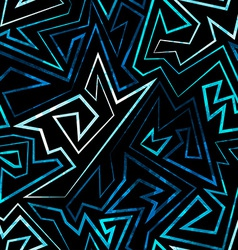 blue neon seamless pattern vector image