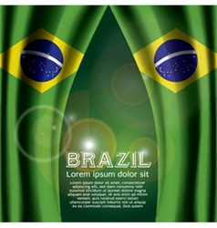 Brazil flag curtain vector