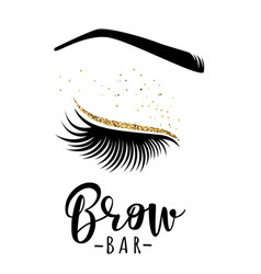 Brow bar logo vector