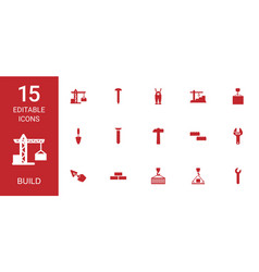 build icons vector image
