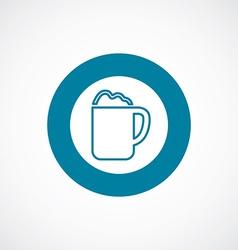 Cappuccino icon bold blue circle border vector