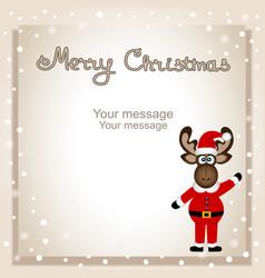 christmas card funny postcard with christmas vector image