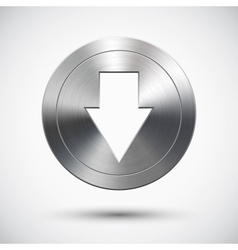 Chrome down button vector image