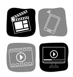 Cinema icons design vector image