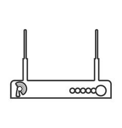 Contour color monochrome wireless router vector
