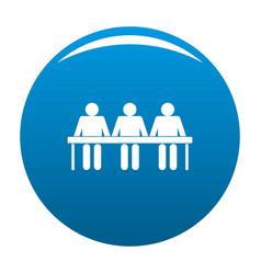corporate icon blue vector image