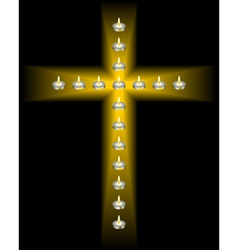 Cross of candles vector