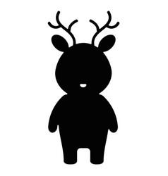 cute and tender reindeer character vector image vector image