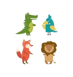 Cute animals character vector