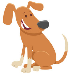 Cute dog or puppy cartoon character vector
