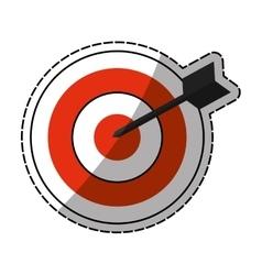 Dartboard target game vector