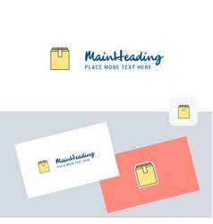 database logotype with business card template vector image