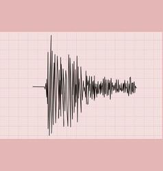 earthquake line graph vector image