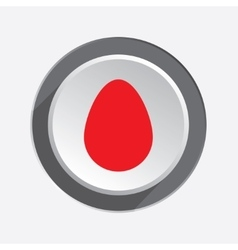 Egg icon Life start begin symbol Red vector