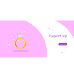 engagement rings banner design vector image