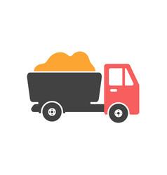 farm truck icon design template isolated vector image