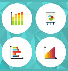 flat icon chart set of infographic statistic vector image