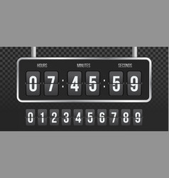 flip countdown clock counter vector image