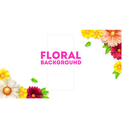 floral bouquet daisy chain and leafs concept vector image