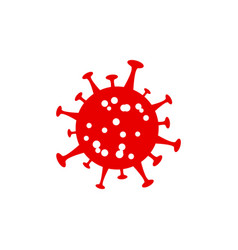 Flu infection red symbol corona virus infection vector